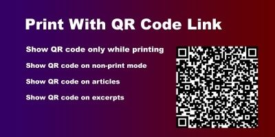 Print With QR Code Link WordPress Plugin