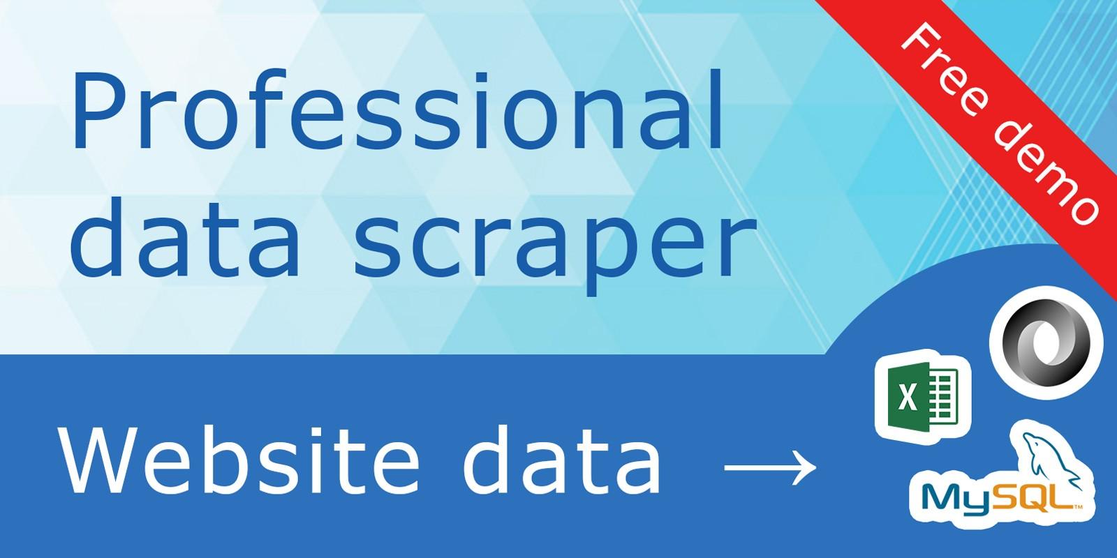 DataExcavator - Web Scraping Server C#