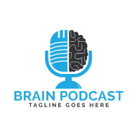 Brain Podcast Logo Design