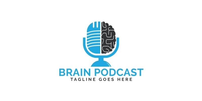 Brain Podcast Logo Design