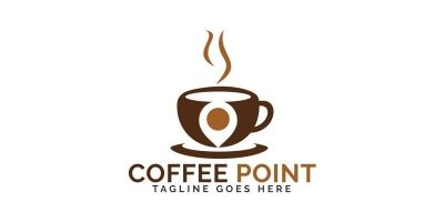 Coffee Point Logo Design