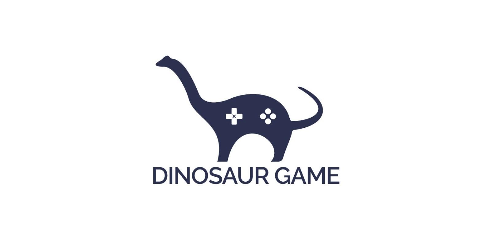Dinosaur Game Logo Design
