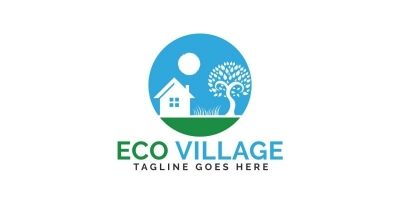 Eco Village Logo Design