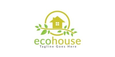 Eco House Logo Design