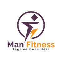 Man Fitness Logo Design