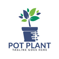 Pot Plant Logo Design