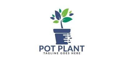 Pot Plant Logo Design