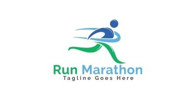 Run Marathon Logo Design