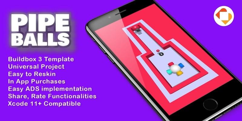 PipeBalls 3D - Buildbox 3 Template