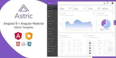 Astric - Angular 9 Admin Template