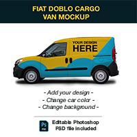 Fiat Doblo Cargo Van Mockup