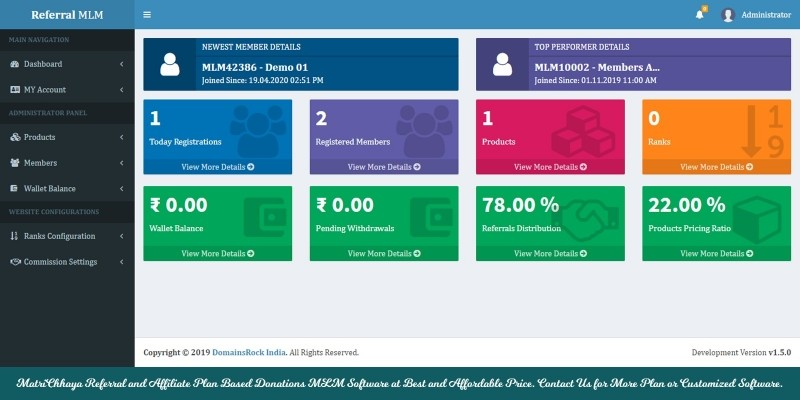 Level Plan or Generation Plan MLM Software