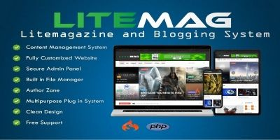 LiteMag - Self hosted CMS PHP Script