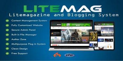 LiteMag - Self hosted CMS PHP Script