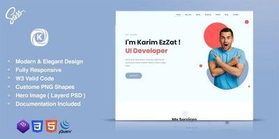 Karmen - Personal Portfolio Template