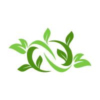 Infinity Natural and Organic Logo design template