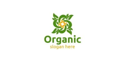 Infinity Natural and Organic Logo design template