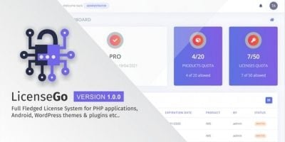 LicenseGo - Advance License PHP System