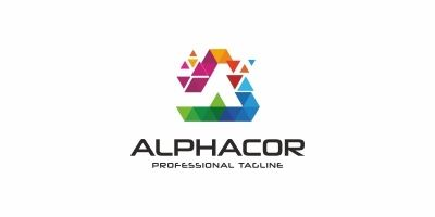 Alphacor A Letter Colorful Logo