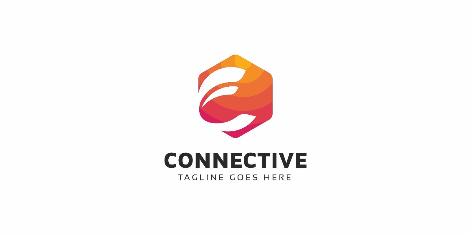 C Letter Hexagon Logo
