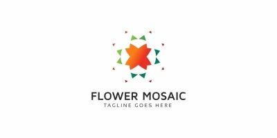 Flower Pixel Logo