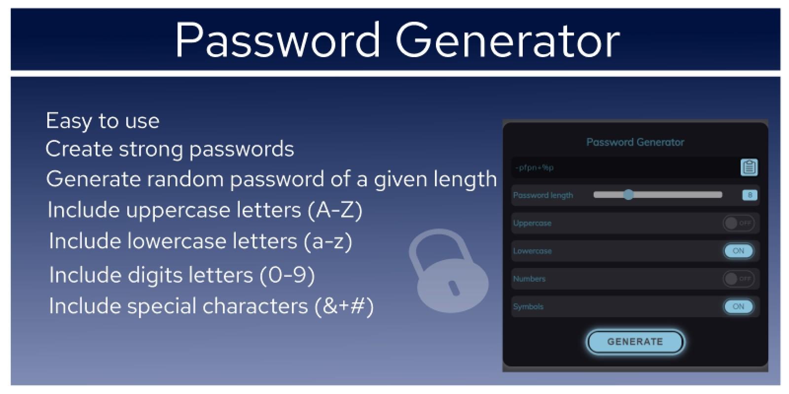 Password Generator JavaScript