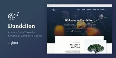 Dandelion - A Modern Blogging Theme For Ghost