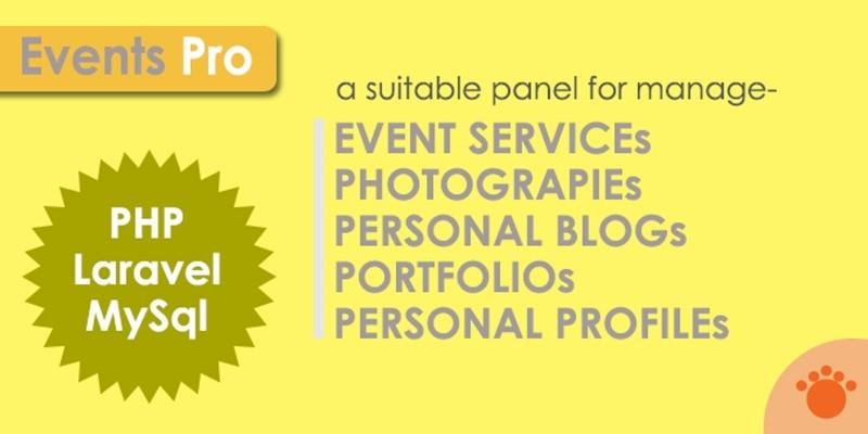 Events Pro Master - Laravel Application
