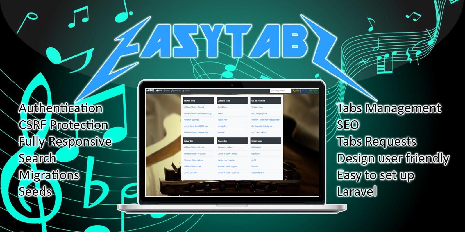 EasyTabs - Laravel Music Tabs Management