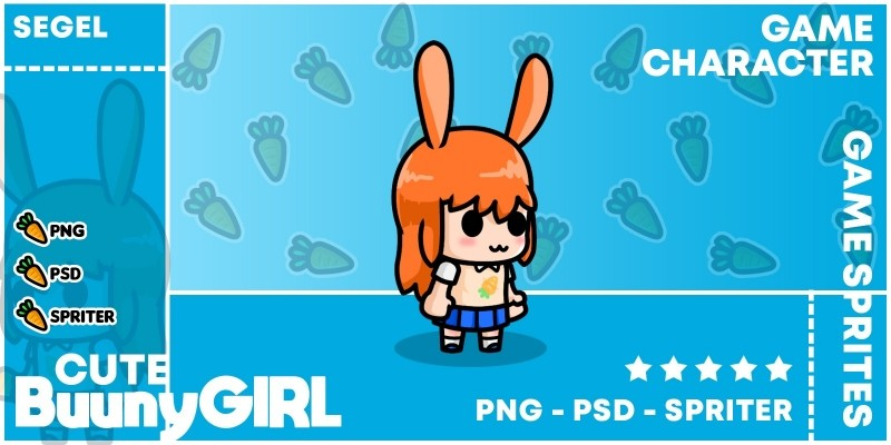 Cute Bunny Girl - Game Character