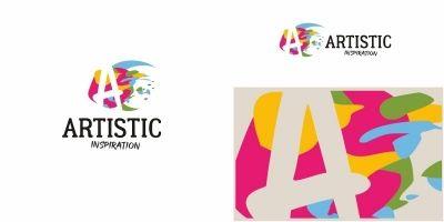 Artistic A Letter Logo