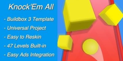 Knock Em All 3D - Buildbox Template