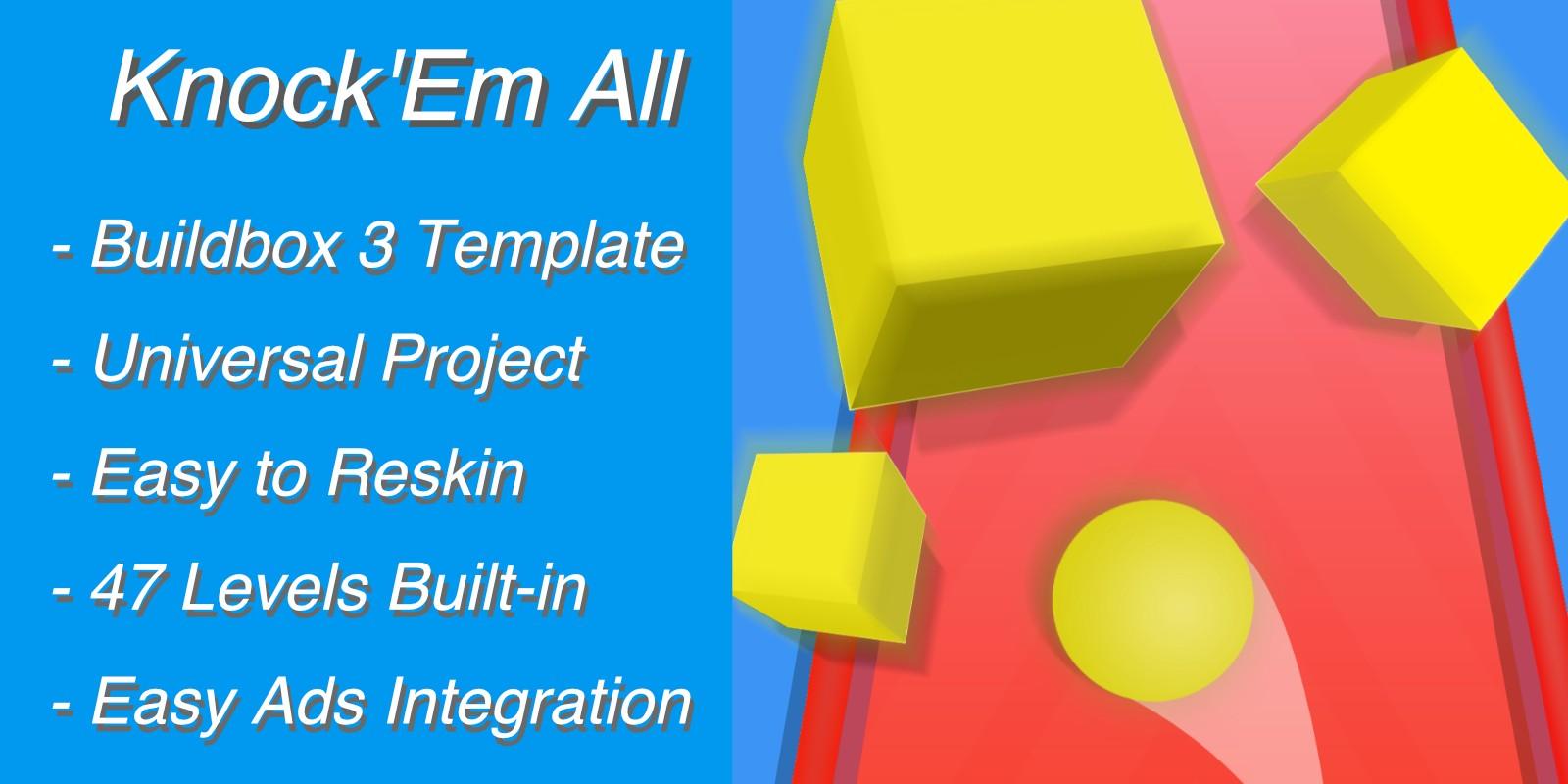 Knock Em All 3D - Buildbox Template