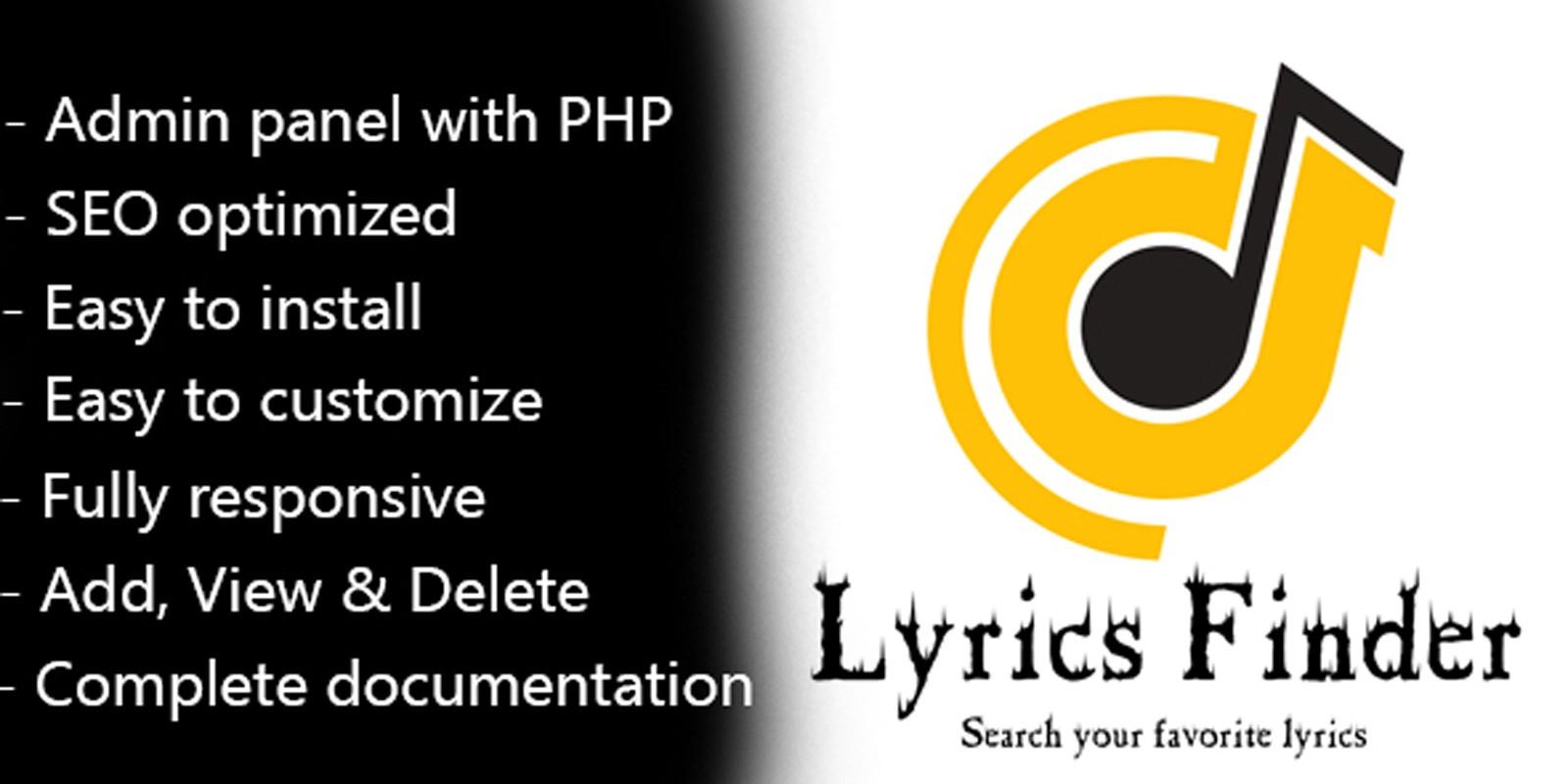 Lyrics Finder PHP Script