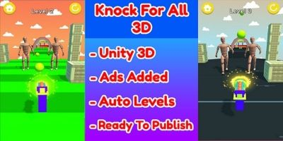 Knock For All 3D Game Unity Source Code