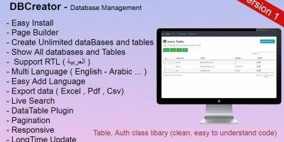 DBCreator - Database Management Fully Ajax Support