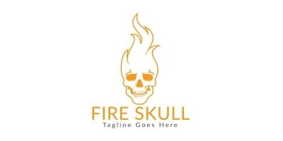 Fire Skull Logo Design