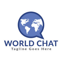 World Chat Logo Design