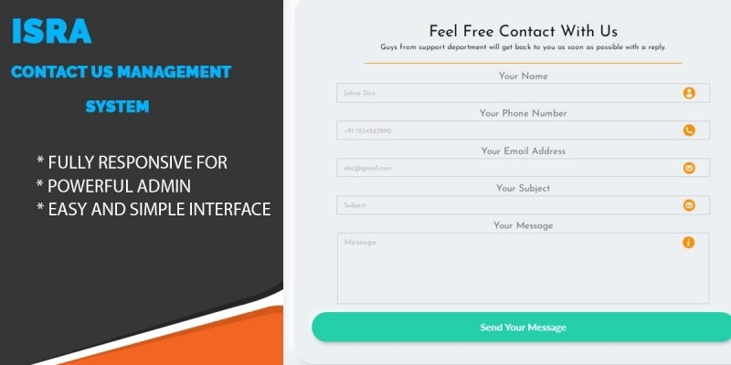 Isra - Contact Us Management System