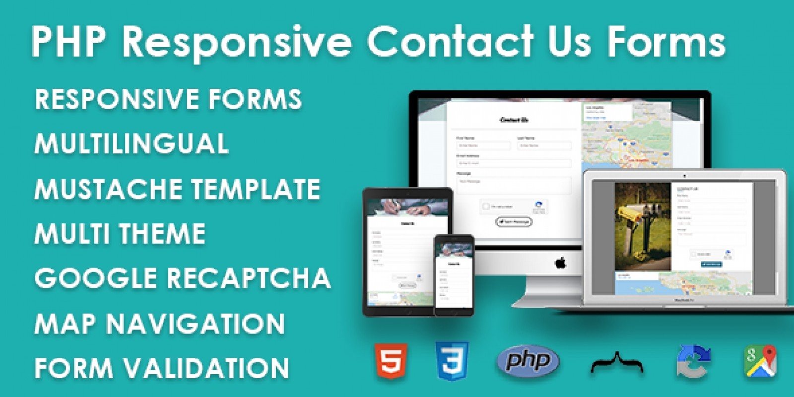 PHP Responsive Contact Us Forms