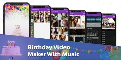 Birthday Video Maker With Music - Android App