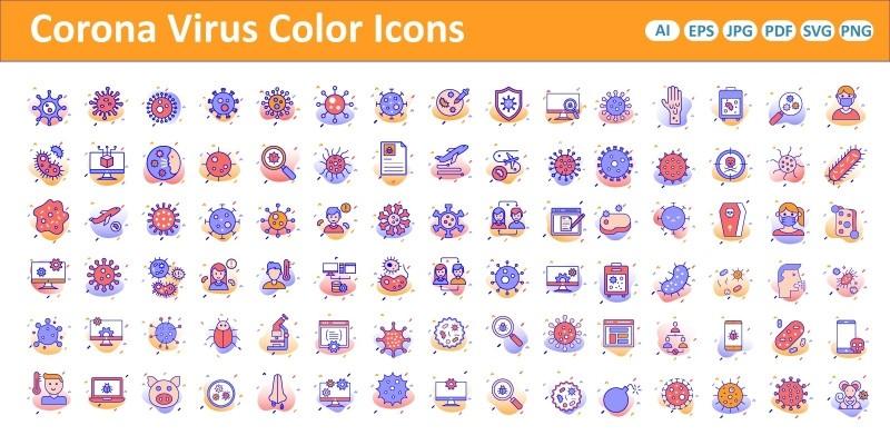 Corona Virus Color Vector icon