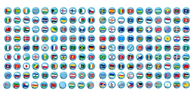 200+ Countries Flag Vector icons