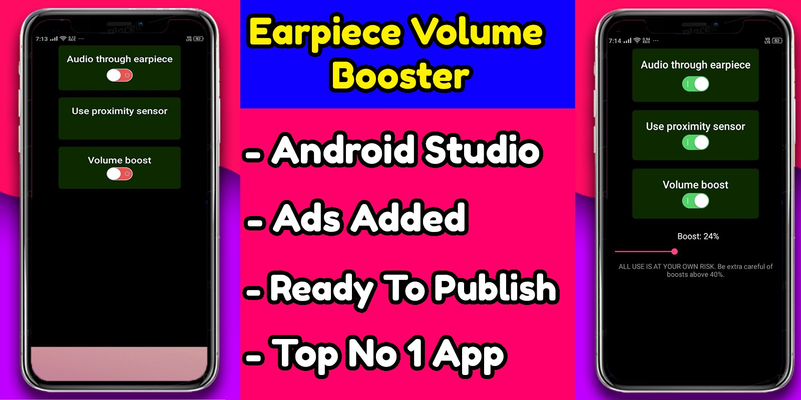 Earpiece Volume Booster - Android App Source Code