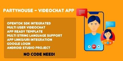 PartyHouse - Videochat Android App Template