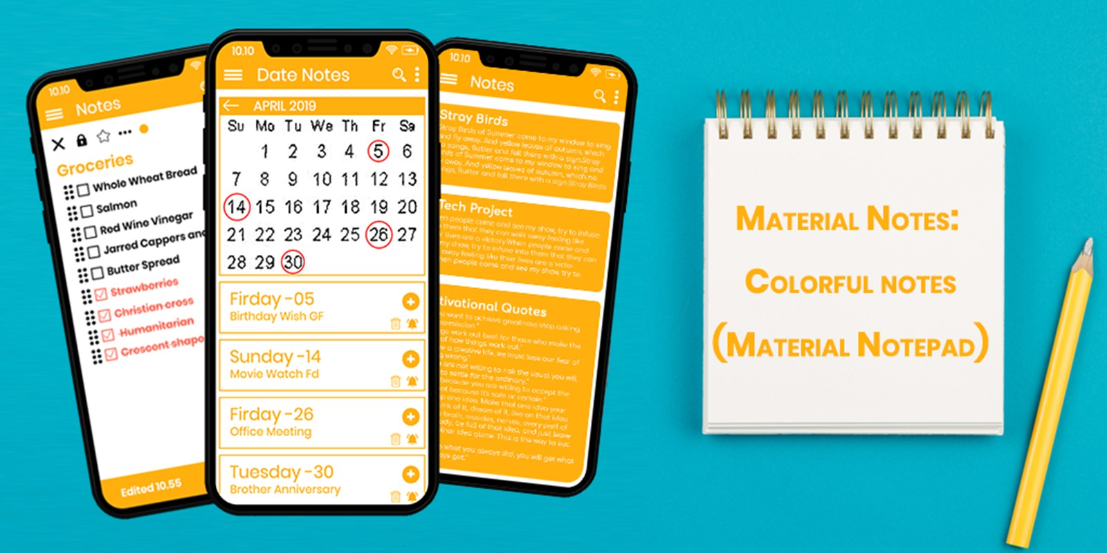 Material Notes - Colorful Notes Android Template