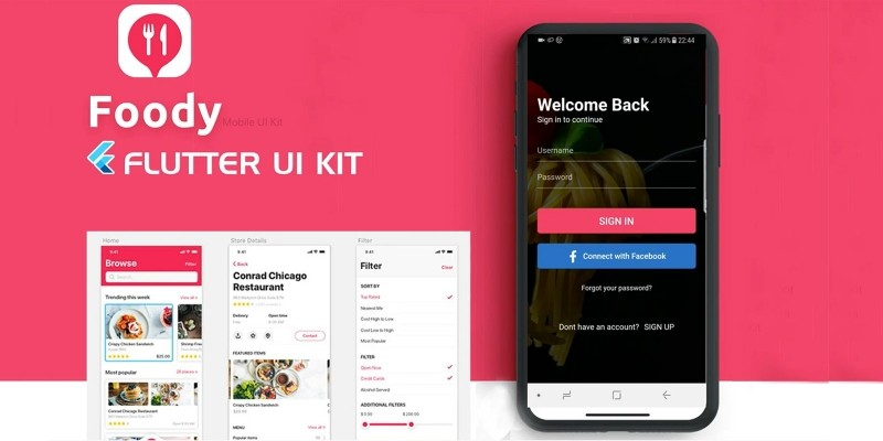 Foody - Flutter UI Kit