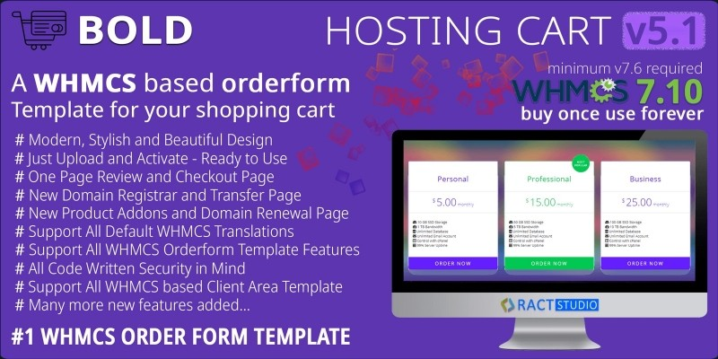 Bold Hosting Cart - WHMCS Order Form Template