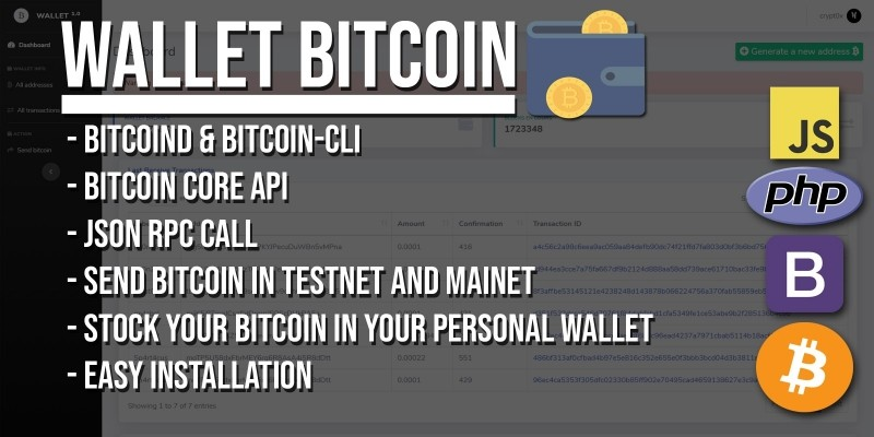 Wallet Bitcoin - PHP Script