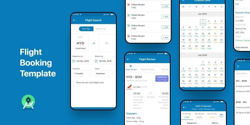 Flight Booking - Android Studio UI Template